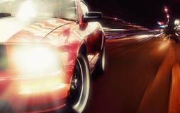 Röd sportbil Arkivfoto