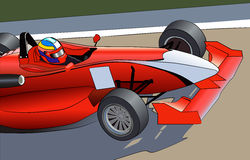 Röd sportbil Arkivbild