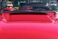 Röd sportbil Fotografering för Bildbyråer