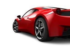Röd sportbil på vit bakgrund Arkivfoton