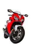 Röd sportcykel Royaltyfria Bilder