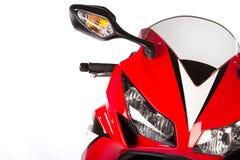 Röd sportcykel Arkivfoton