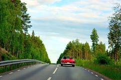 röd sporttappning för bil royaltyfri foto