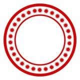 röd stämpel Royaltyfri Fotografi