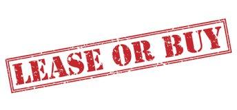 Röd stämpel för arrende eller för köp Arkivfoto