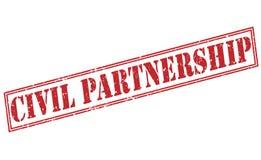 Röd stämpel för borgerligt partnerskap vektor illustrationer