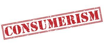 Röd stämpel för Consumerism stock illustrationer