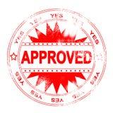 röd stämpel för godkännande Royaltyfri Fotografi