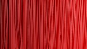 Röd stängd gardinbakgrund i en teater Royaltyfria Foton