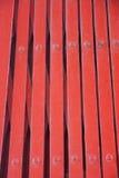 Röd ståldörr på kinesisk tempelbakgrund Royaltyfria Foton
