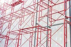 Röd stålstruktur Arkivfoton