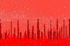 Röd stadsbakgrund Royaltyfri Foto