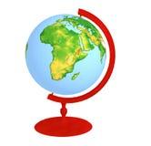 röd stand för jordklot Arkivfoton