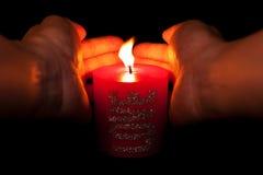 Röd stearinljus Royaltyfri Bild