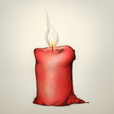 Röd stearinljus Royaltyfria Foton