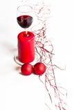 Röd stearinljus Royaltyfri Fotografi
