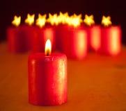 röd stearinljusjul Royaltyfri Bild
