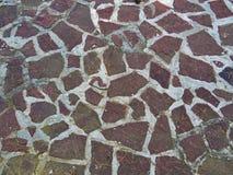 Röd stentexturmosaik Fotografering för Bildbyråer