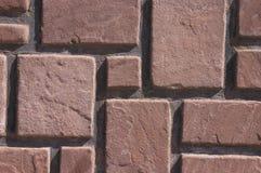 röd stenvägg Arkivbild