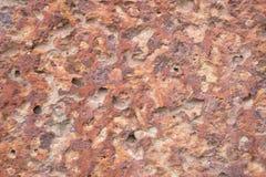 Röd stenyttersida för Laterite, texturbakgrund royaltyfria foton
