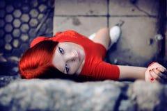 Röd stil royaltyfria foton