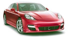 Röd stilfull bil Arkivbilder