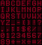 Röd stilsort för ljusdiod-skärm royaltyfri illustrationer