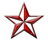 Röd stjärna Arkivfoto