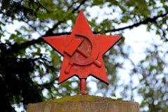 Röd stjärna Royaltyfri Foto