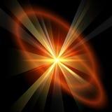 Röd stjärna Arkivbild