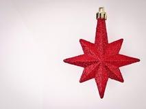 Röd stjärna för utrymme Royaltyfri Bild