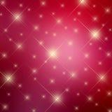 Röd stjärnabakgrund för gnistrande Royaltyfri Bild