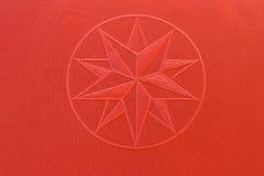 röd stjärnatextur för tyg Arkivfoto