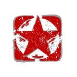 röd stjärnavektor Arkivfoto