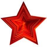 röd stjärnavektor vektor illustrationer