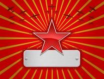 röd stjärnavektor för illustration vektor illustrationer