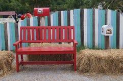 Röd stol Arkivbilder