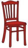 Röd stol Arkivfoto