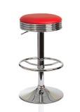 Röd stol för amerikansk matställe Arkivbilder