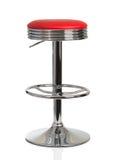 Röd stol för amerikansk matställe Arkivfoton