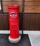 Röd stolpe Royaltyfria Bilder