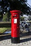 Röd stolpeask UK Royaltyfri Fotografi