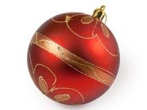 röd stor jul för boll Royaltyfri Bild