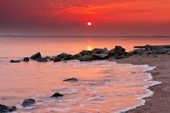 Röd strand Royaltyfri Bild