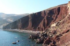 Röd strand, Santorini Fotografering för Bildbyråer