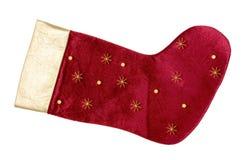 röd strumpa för jul Royaltyfri Foto