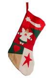 röd strumpa för jul fotografering för bildbyråer