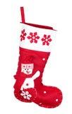 röd strumpa för julpresents royaltyfri foto