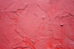 röd stuckaturtextur Arkivbilder