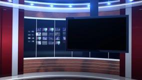 Röd studiobakgrund lager videofilmer